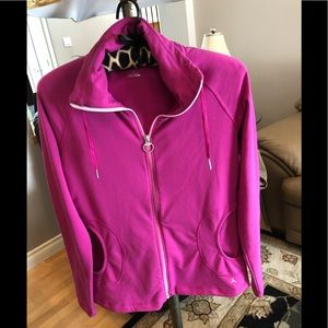 Danskin women's zip up Sweater, warm up collar, S.